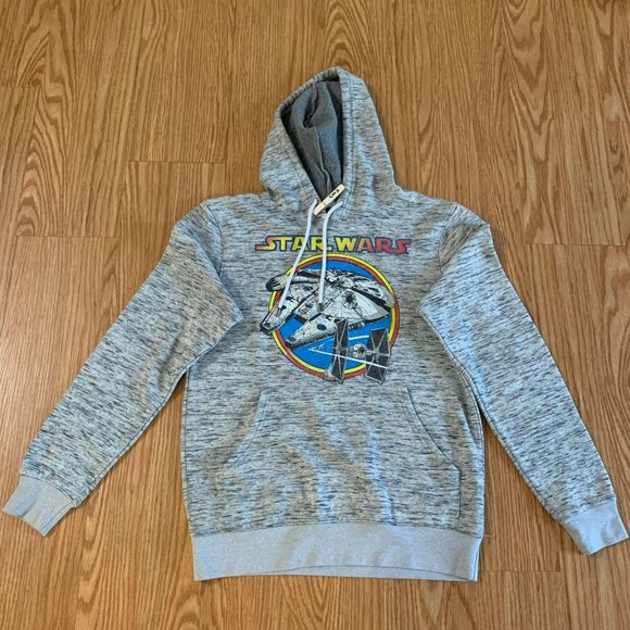 Star Wars Graphic Gray Hooded Sweatshirt Millenniu